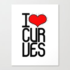 I heart curves Canvas Print