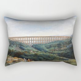 The Aqueducts at Caserta by Carl Ludwig Hackert Rectangular Pillow