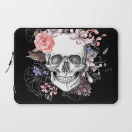Dia Los Muertos, Floral Skull Laptop Sleeve