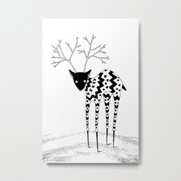 Cute reindeer Metal Print