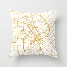 SAN JOSE CALIFORNIA CITY STREET MAP ART Throw Pillow