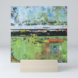 Salvation Green Abstract Contemporary Artwork Painting Mini Art Print