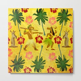Tropical Island Unicorn Metal Print