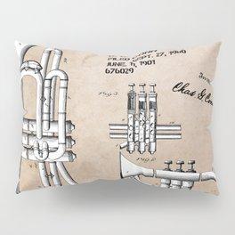 Valve musical instrument patent art Pillow Sham