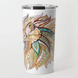Ethnic Tribal Lion Doodle 01 Travel Mug