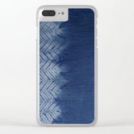 Shibori Chevron Stripe Clear iPhone Case