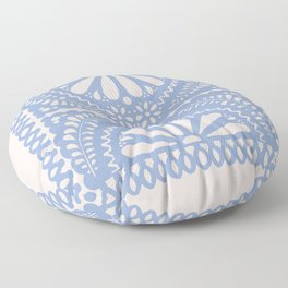 Fiesta de Flores Serenity Blue Floor Pillow