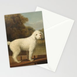 George Stubbs - White Poodle in a Punt Stationery Cards