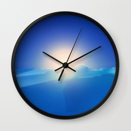 Ice Cold Blue Wall Clock