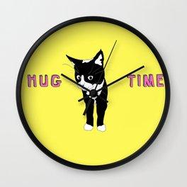 Hug Time - Happy Time Wall Clock