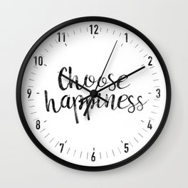 Choose Happiness Wall Clock