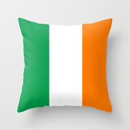 Irish national flag - Flag of the Republic of Ireland, (High Quality Authentic Version) Throw Pillow