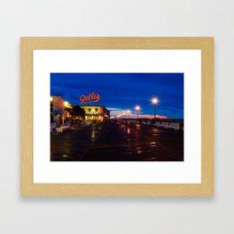Early Morning at Dolles Coastal Landscape Photograph - Boardwalk Artwork Framed Art Print