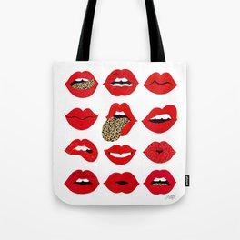 Leopard Lips of Love Tote Bag