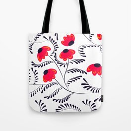 Beauty simple seamless floral pattern swirl Tote Bag