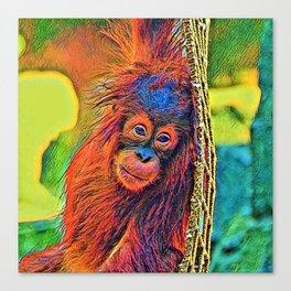 AnimalColor_OrangUtan_001_by_JAMColors Canvas Print
