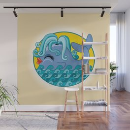 Sexy Whale Wall Mural
