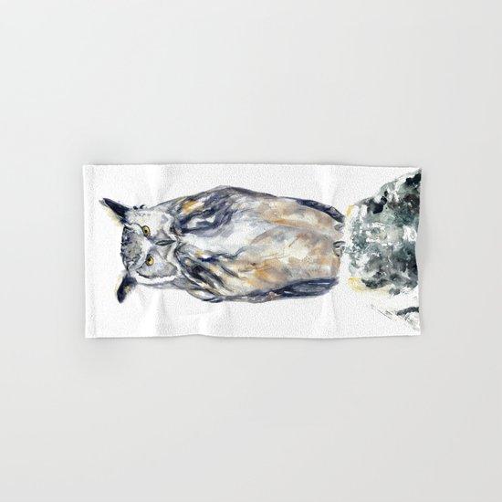 A Serious Owl Hand & Bath Towel