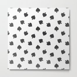Playing cards spades suit Metal Print
