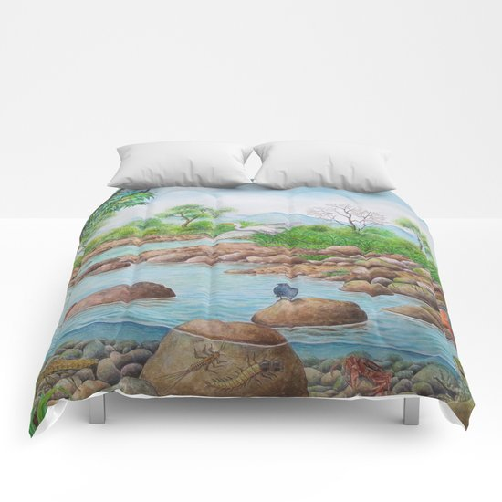 A Day of Forest(7). (the river ecosystem) Comforters