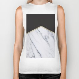 Gilded ebony and soft white marble Biker Tank