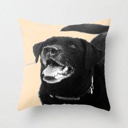 Labrador Happy Throw Pillow