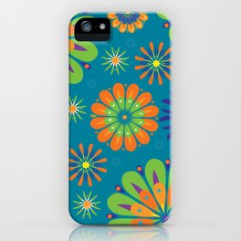 Psycho Flower Blue iPhone Case