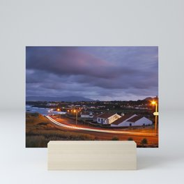 Village in twilight Mini Art Print