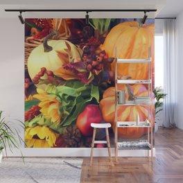 Pumpkin Profusion Wall Mural
