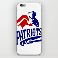 patriots iPhone & iPod Skins featuring Patriots Logo 2 by Happy Positivity