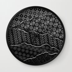 Pattern Madness Wall Clock