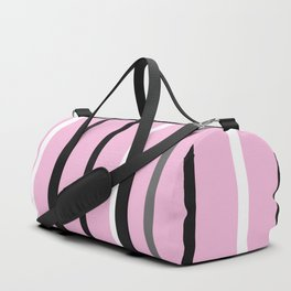 PINK MINIMAL STRIPES #black #white #stripes #minimal #art #design #kirovair #buyart #decor #home Duffle Bag