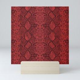 Ruby Red Snakeskin Mini Art Print