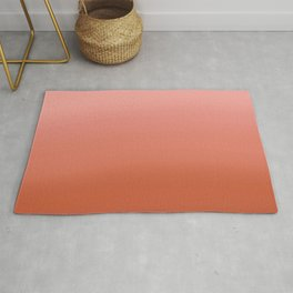 Coral Pink Ombre  Rug