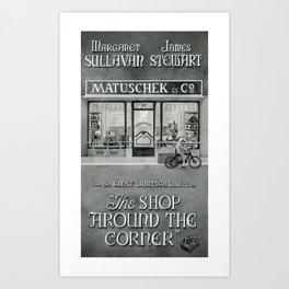 The shop around the corner Art Print
