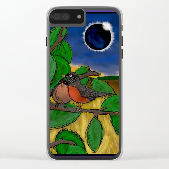 Solar Eclipse Dream Clear iPhone Case