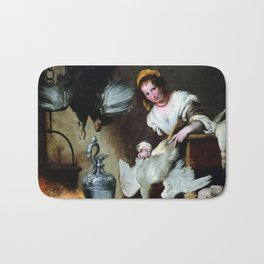 Bernardo Strozzi The Cook Bath Mat