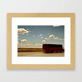Charter Bus Framed Art Print