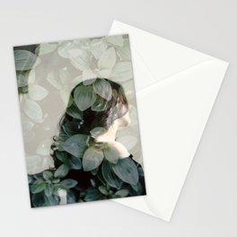 Leaf portrait Stationery Cards