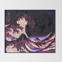The Great WAVE Eggplant Purple Throw Blanket