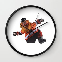 Gritty Flyers Mascot Wall Clock