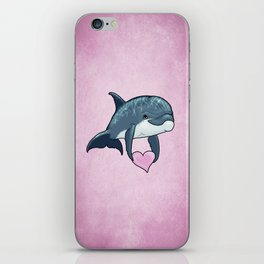 Love Ya! ~ Baby Dolphin by Amber Marine ~ Pink ~ (Copyright 2014) iPhone Skin