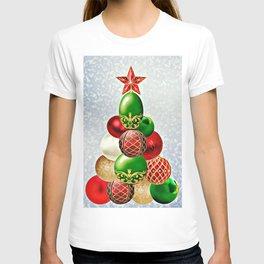 Christmas Bauble Tree T-shirt