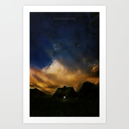 Home under the stars Art Print