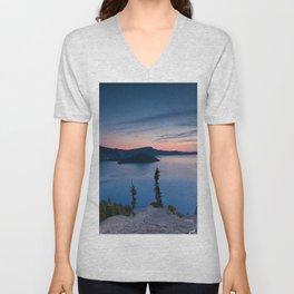 Sunrise At Crater Lake Unisex V-Neck