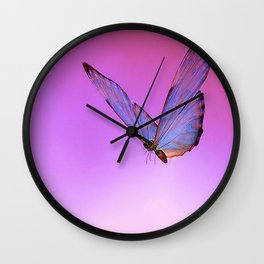 Papillon de nuit 2 Wall Clock