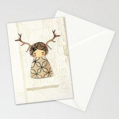 Deer paperdolls Stationery Cards