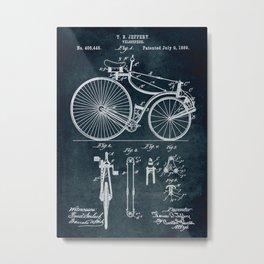 1889 Velocipede patent Metal Print