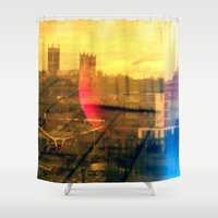 lincoln Shower Curtains featuring Lincoln by Jonathan Wright Productions