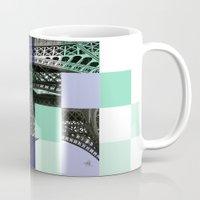 eiffel Mugs featuring EIFFEL by Marcela Solana
